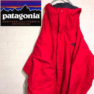 パタゴニア(patagonia)のpatagonia パタゴニアトレントシェルジャケット マウンテンパーカーレッド(マウンテンパーカー)