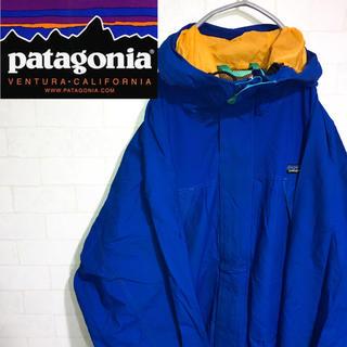 パタゴニア(patagonia)のpatagonia パタゴニアトレントシェルジャケット マウンテンパーカーブルー(マウンテンパーカー)