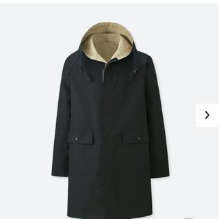 ユニクロ(UNIQLO)のユニクロ jwanderson リバーシブルフーデッドコート ブラック 新品 L(モッズコート)