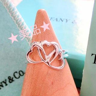 ティファニー(Tiffany & Co.)の美品☆ ティファニー トリプルオープンハートリング 10号(リング(指輪))