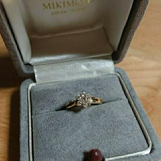 ミキモト(MIKIMOTO)の☆値段交渉可☆MIKIMOTO k18 ダイヤモンドリング 0.34ct☆(リング(指輪))