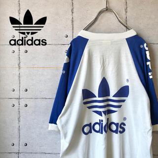 アディダス(adidas)の【激レア】 90s adidas アディダスオリジナルス デカロゴ Tシャツ(Tシャツ/カットソー(半袖/袖なし))