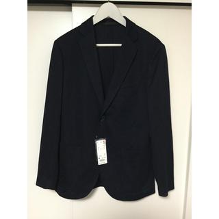 ユニクロ(UNIQLO)のユニクロ 2019春夏新作 コンフォートジャケット M 標準丈 ネイビー 未使用(テーラードジャケット)