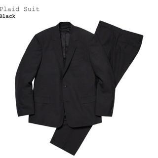 シュプリーム(Supreme)のSupreme plaid suit 黒 S black シュプリーム(セットアップ)