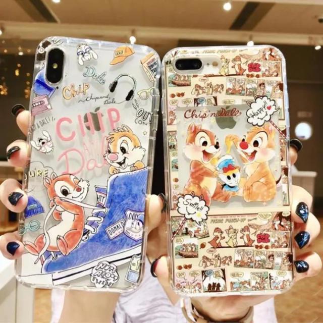 シュピゲン iphone8 ケース - iPhoneケース チップとデールの通販 by あっちん's shop|ラクマ