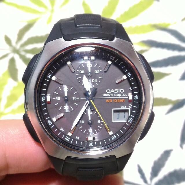 CASIO - 電波ソーラー 腕時計 ウェーブセプター wvq-400 ブラックの通販 by こてつ's shop|カシオならラクマ