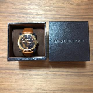 マイケルコース(Michael Kors)のMichael Kors KEMPTON MK2484 べっ甲 スクエアフェイス(腕時計)