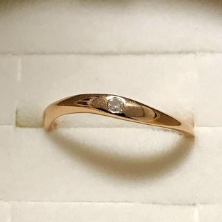 ヨンドシー(4℃)の4°C K18ピンキーリング4号(リング(指輪))