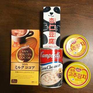 コストコ(コストコ)のコストコ 唐辛子ツナ缶 クラムチャウダー バンホーテン 杏仁豆腐(缶詰/瓶詰)