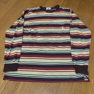 90s カルバンクライン calvin klein マルチボーダー USA(Tシャツ/カットソー(半袖/袖なし))