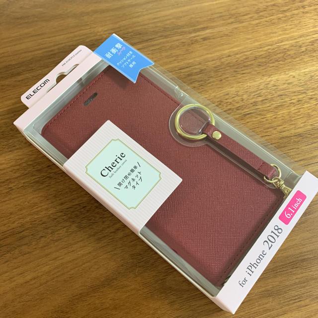 ニコアンド iphone x ケース | ELECOM - iPhone XR ケース 手帳型 レザー フィンガーストラップ付き レッドの通販 by MORIZO-'s shop|エレコムならラクマ