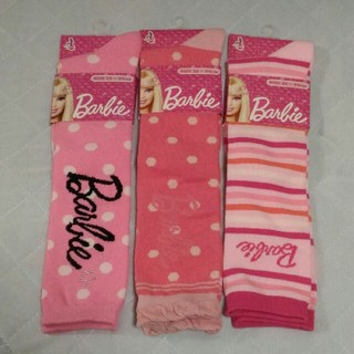バービー(Barbie)の[新品] Barbie♡ハイソックス 3足セット 22~24cm(ソックス)