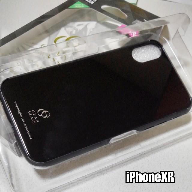 iPhoneXR ケース 高硬度★9Hガラス使用 ハイブリッド ブラックの通販 by ASUKA's shop|ラクマ