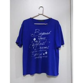 シマムラ(しまむら)のTシャツ 青(Tシャツ(半袖/袖なし))