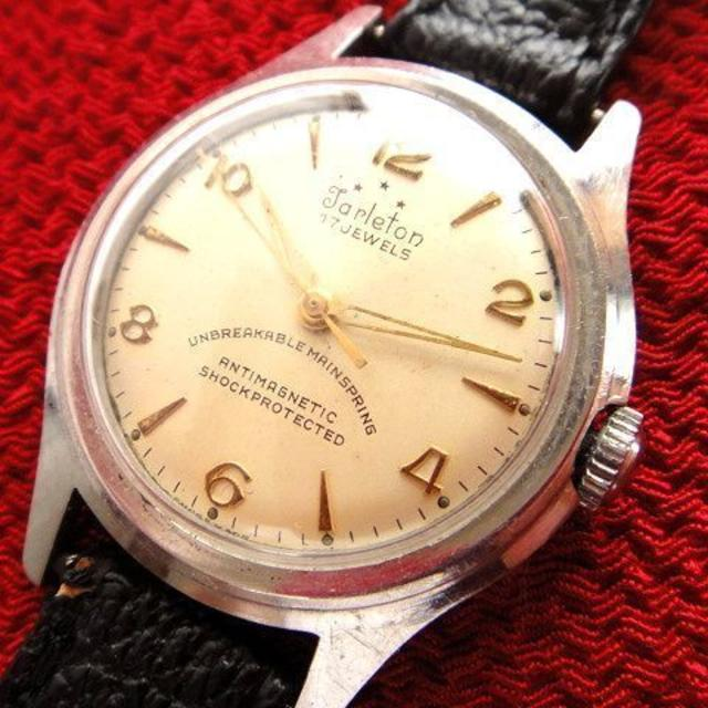 ブライトリング偽物懐中 時計 、 貴重★アンティーク Tarleton スイス製 17石使用 手巻き腕時計の通販 by アンティークチョップ's shop|ラクマ