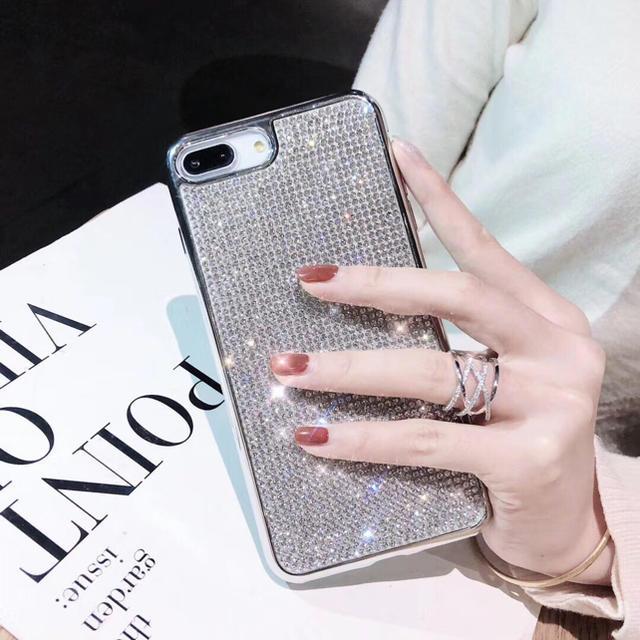 キラキラストーン iPhoneケースの通販 by nana's shop|ラクマ