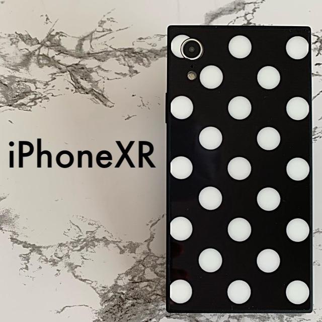 iPhoneXR専用 ケースカバー 白水玉の通販 by ⚠️17日〜23日は発送お休みです。即購入OK❣️|ラクマ