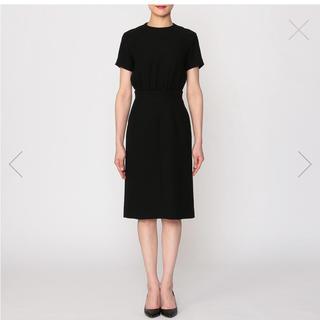 ドゥロワー(Drawer)のYOKO CHAN レイヤードドレス ワンピース38黒 披露宴パーティ(ひざ丈ワンピース)