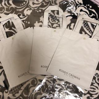 ロデオクラウンズワイドボウル(RODEO CROWNS WIDE BOWL)のロデオ 新ショッパー/ショップ袋 (小)3枚(ショップ袋)