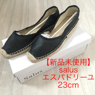 salus - 【新品未使用】salus セパレートエスパドリーユシューズ ブラックスムース 黒