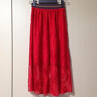 BAUM UND PFERDGARTEN - バウムウンドヘルガーデン レーススカート 赤