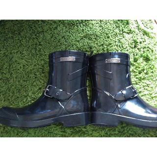 コーチ(COACH)の美品!COACHのレインブーツ(黒)(レインブーツ/長靴)