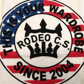 ロデオクラウンズワイドボウル(RODEO CROWNS WIDE BOWL)のロデオクラウンズ ワイドボウル サークルロゴ T アメリカンフラッグ L(Tシャツ(半袖/袖なし))