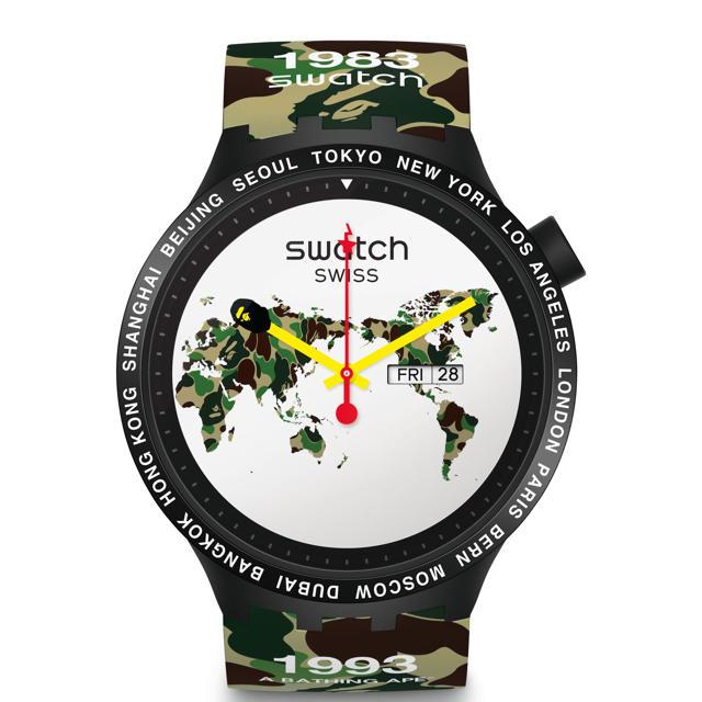 A BATHING APE - bape×Swatch 限定品 ベイプ スウォッチの通販 by ちゅん太 shop|アベイシングエイプならラクマ