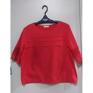 リュリュ(RyuRyu)の半袖 5分丈 赤 3L(Tシャツ(半袖/袖なし))
