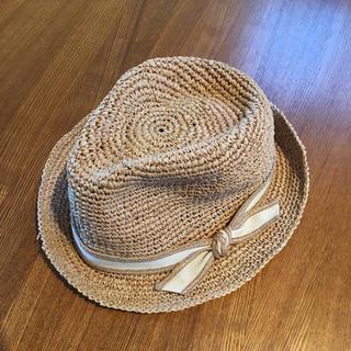ムック様専用 石田製帽 ラフィアハット(麦わら帽子/ストローハット)