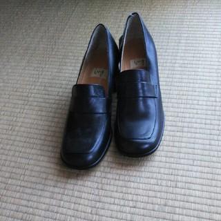 イング(ing)のing黒革靴 24.5(ハイヒール/パンプス)