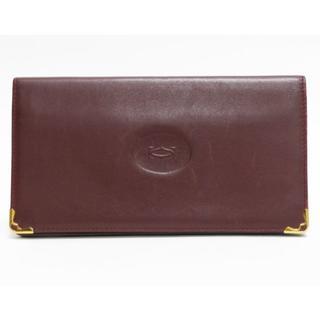 170025c44bbb カルティエ(Cartier)のCartierカルティエ 長財布 札入れ マスト レザー良品 正規品 (
