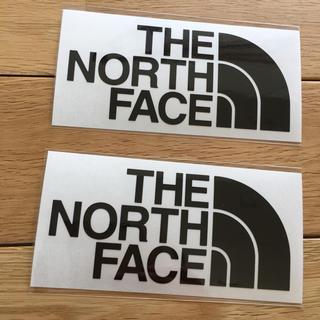 ザノースフェイス(THE NORTH FACE)のノースフェイス カッティングステッカー 黒  North face シール (その他)