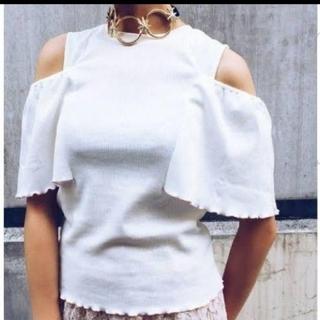 パメオポーズ(PAMEO POSE)のPAMEO POSE トップス ホワイト(カットソー(半袖/袖なし))