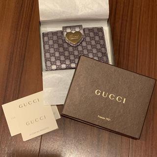 グッチ(Gucci)の新品★GUCCI パスケース ハート シルバー ガンメタ(名刺入れ/定期入れ)