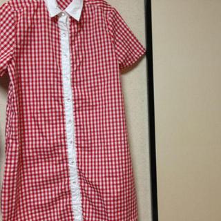 赤チェックシャツ (着画有)(Tシャツ(半袖/袖なし))