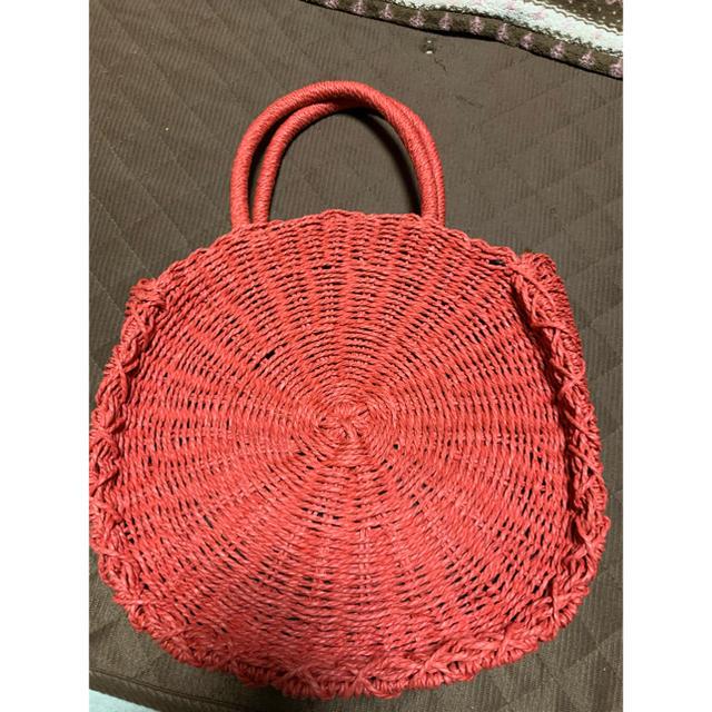 しまむら(シマムラ)のしまむら サークルペーパーバッグ オレンジ レディースのバッグ(かごバッグ/ストローバッグ)の商品写真