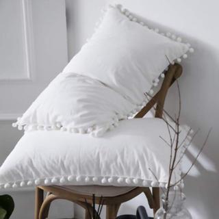 フランフラン(Francfranc)の枕カバー ピロケース クッションカバー ポンポン 綿100(シーツ/カバー)