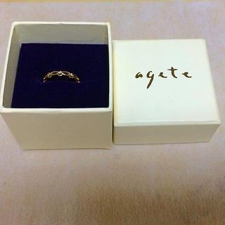 アガット(agete)のagete♡K10 YG ピンキーリング(リング(指輪))