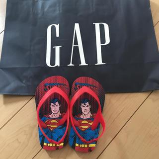 ベビーギャップ(babyGAP)の新品★ 14-15cm gap ビーチサンダル  サンダル スーパーマン(サンダル)