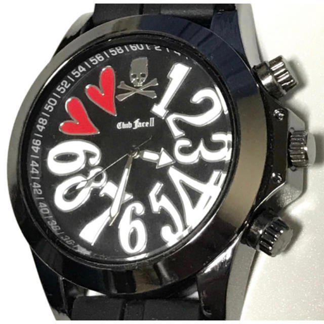 クラブフェイス  ビックフェイスデザイン腕時計 (ラバーバンド)電池新品の通販 by achibon's shop|ラクマ