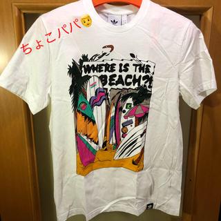 アディダス(adidas)のアディダス プリント Tシャツ 美品 サイズL 白(Tシャツ/カットソー(半袖/袖なし))