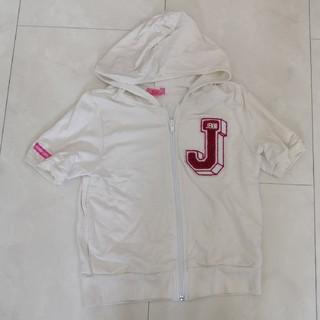 ジェニィ(JENNI)のJENNI 半袖パーカー ホワイト 130(ジャケット/上着)