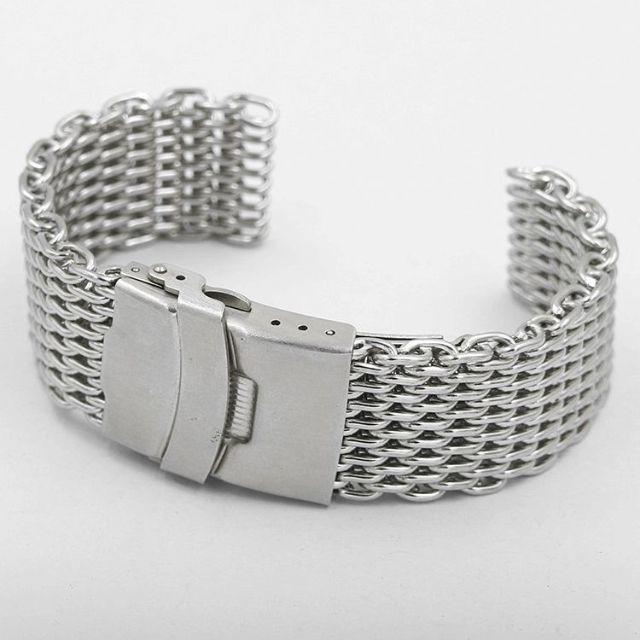 karuthie 、 シャークメッシュ ステンレス ブレス 腕時計ベルト ☆ 18mmの通販 by dokkinmahoutukai's shop|ラクマ