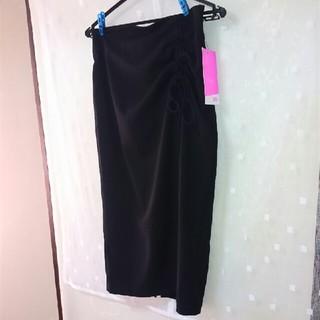 シマムラ(しまむら)の✨未使用✨しまむらViViコラボ❤黒スラブドロストタイトスカート(ひざ丈スカート)