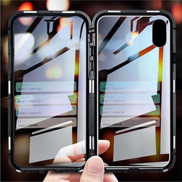 iphone8 クリア ケース にじみ | iPhone対応 360度フルカバー スカイケース マグネット装着の通販 by にゃんこ's shop|ラクマ