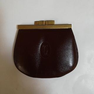 カルティエ(Cartier)のそら豆様専用です!カルティエレザー製のがま口小銭入れ(コインケース/小銭入れ)