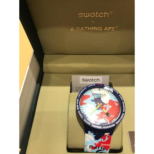 ロレックス 掛け 時計 - A BATHING APE - 即日発送 BAPE SWATCH PARIS の通販 by タマトシ's shop|アベイシングエイプならラクマ