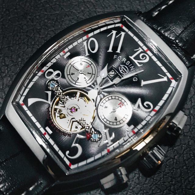 FORSINING トゥールビヨン オマージュ 機械式腕時計 WG/Bの通販 by Coral☆24時間以内発送!|ラクマ
