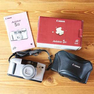 キヤノン(Canon)の完動品‼️フルセット‼️ canon autoboy Sii フィルムカメラ(フィルムカメラ)